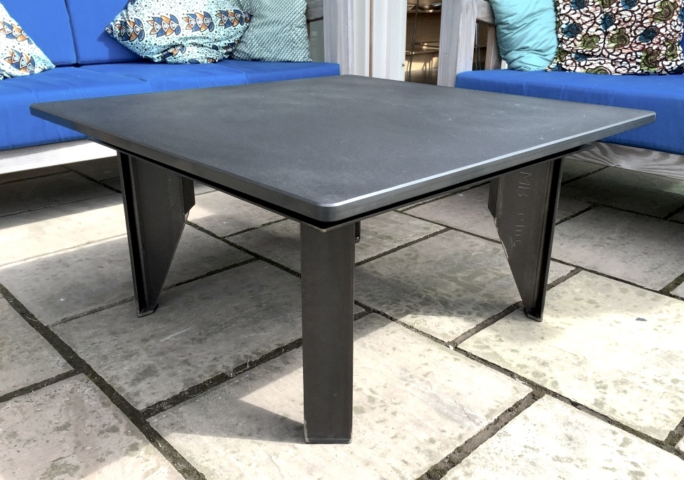 Slate Coffee Table Steel Roots Design